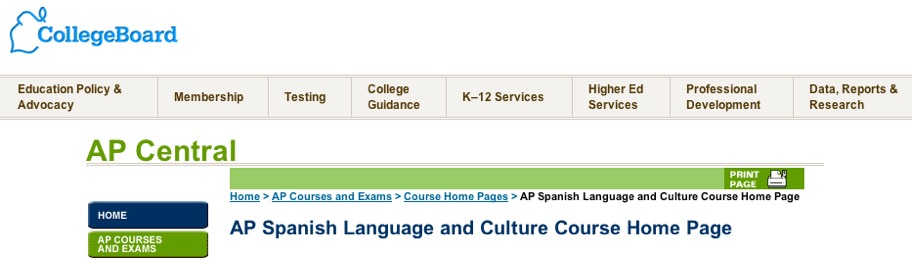 AP Spanish screenshot