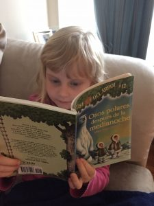 She loves to read - and one thing leads to another!