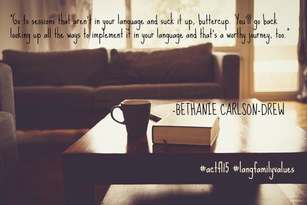 ACTFL quote Bethanie