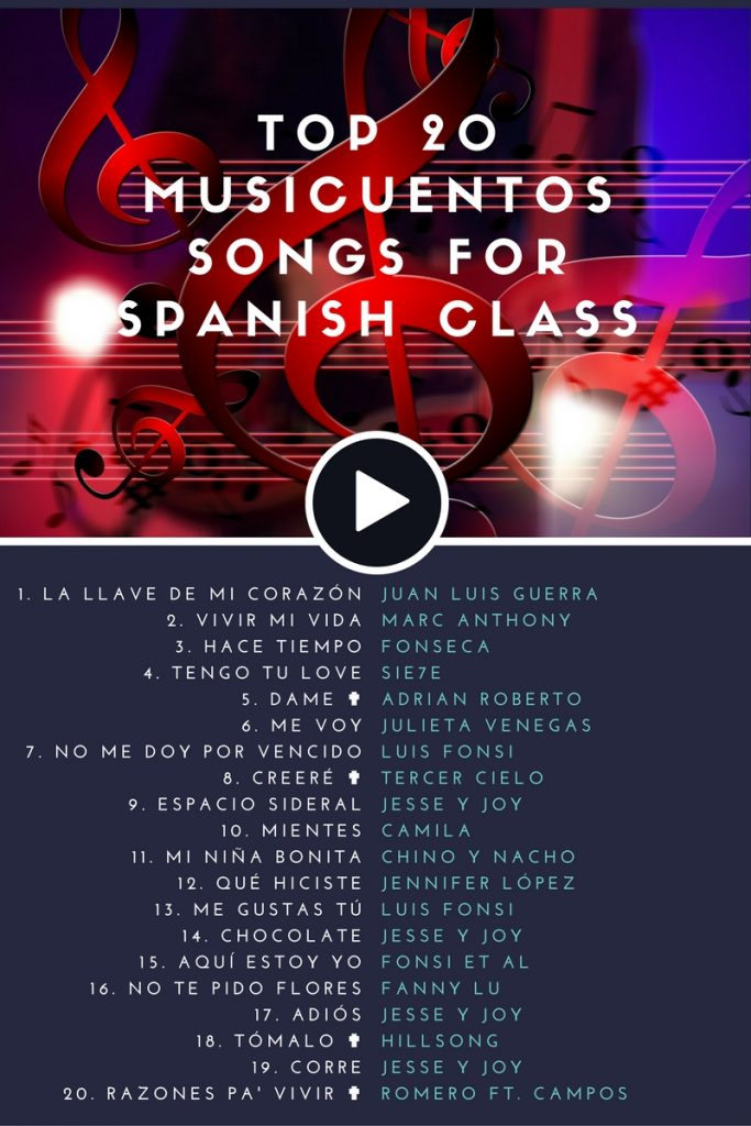 Best of 2016, #2: Top 20 Songs for Spanish Class | Musicuentos