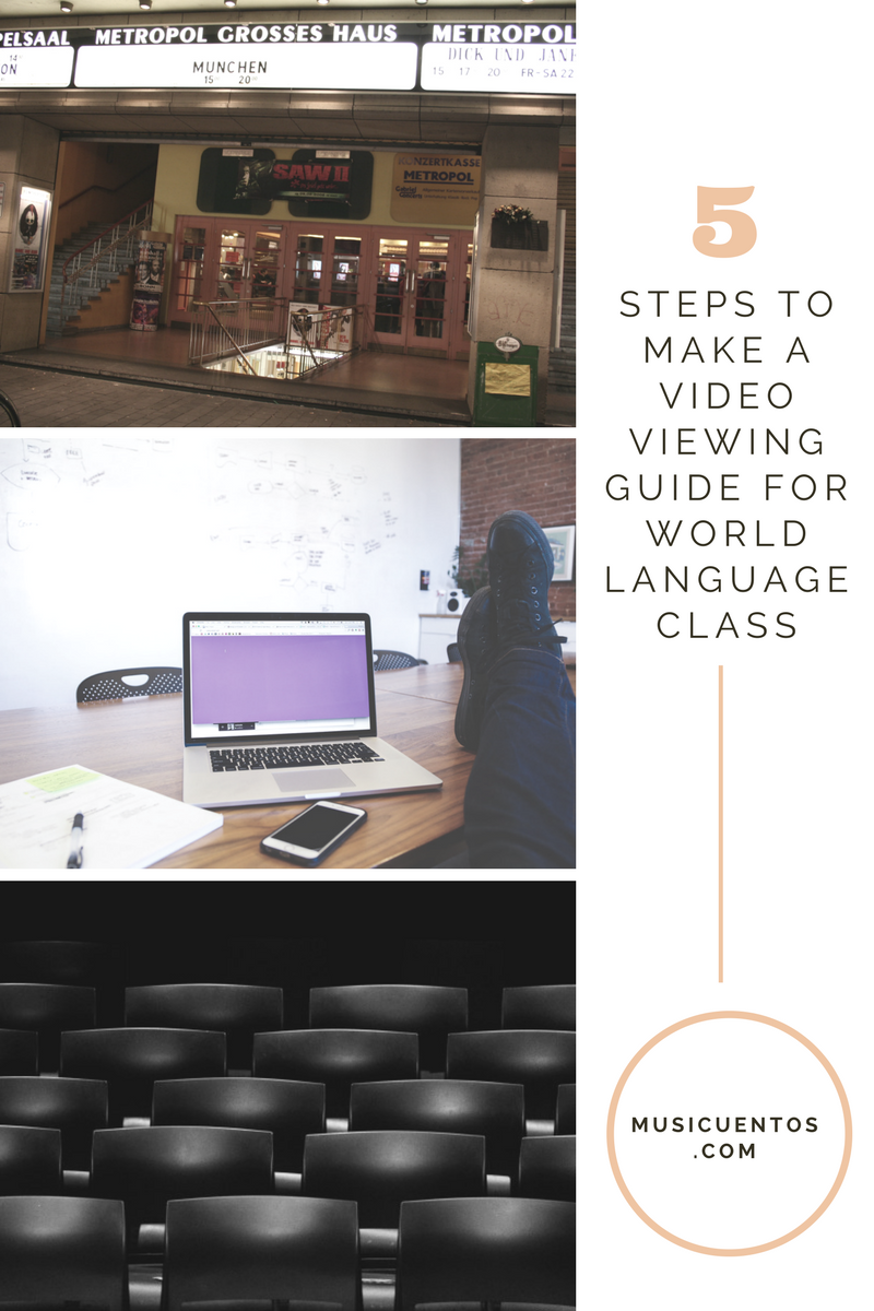 5 steps to make a video viewing guide musicuentos now there have been several great posts offering options of activities to use with authentic video like this one from spanish playground or this one from fandeluxe Images